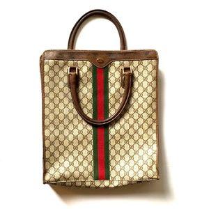 Vintage 1980s GUCCI supreme shopper tote bag